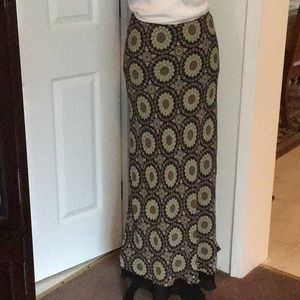 Loco Lindo Rayon Maxi Skirt